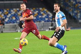 """Naples avec un maillot """"argentin"""" contre la Roma"""