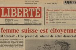 Droit de vote des femmes 1971-2021: Une «Liberté» satisfaite du résultat