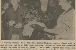 Droit de vote des femmes 1971-2021: des roses pour la première votante