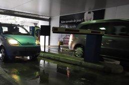 Vandalisme dans un garage souterrain à la gare