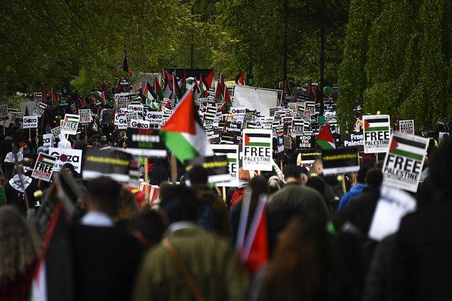 Les soutiens aux Palestiniens se rassemblent à travers l'Europe