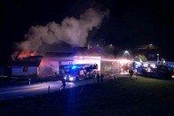 Local en feu à Treyvaux