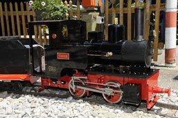 Le petit train du Gottéron à l'arrêt
