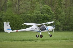 Piste fermée à l'aérodrome d'Epagny