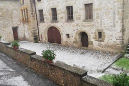 La région d'Estavayer touchée par un violent orage de grêle