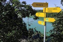 Le sentier du lac de la Gruyère est impraticable