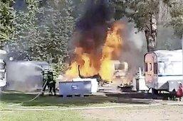 Le feu au camping