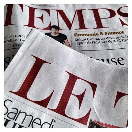 Les employés du journal «Le Temps» en sauront un peu plus sur leur avenir mercredi. © Alain Wicht